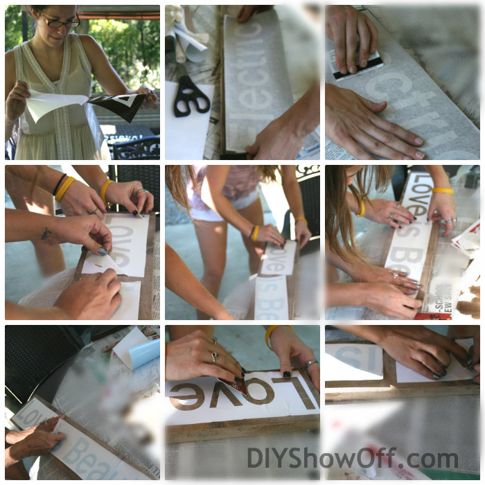 how to make a distressed sign