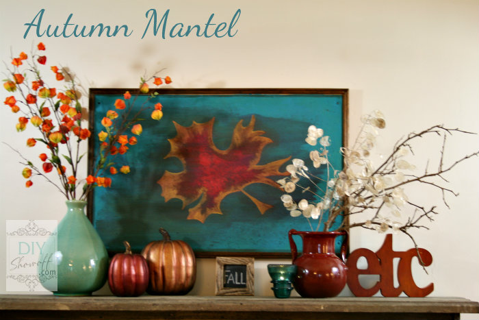 red and turquoise fall mantle