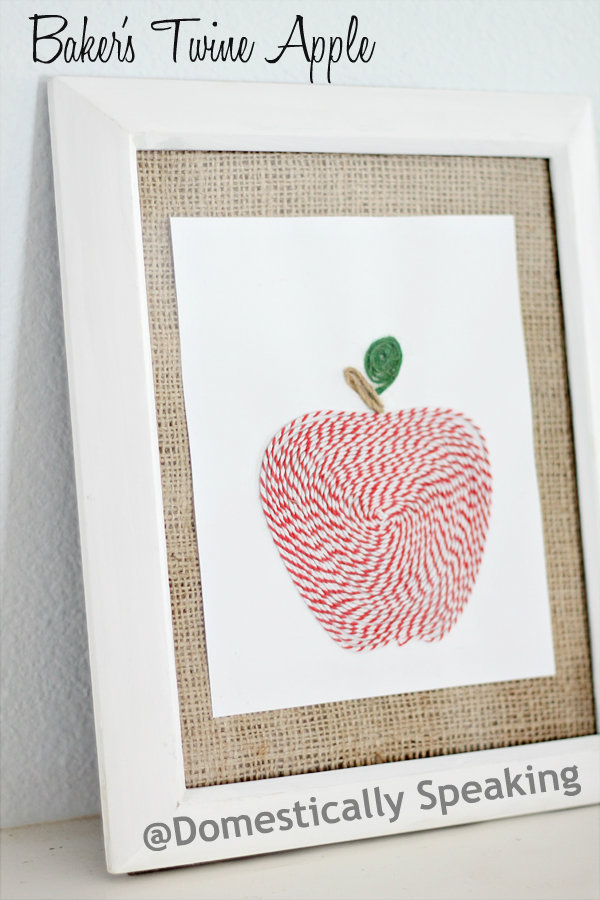 DIY apple art