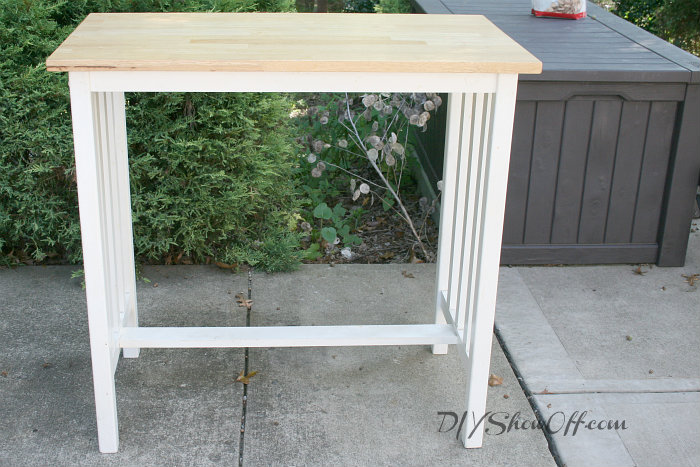 Kitchen Island Kitchen Bar Makeover With Wood Plank Topdiy