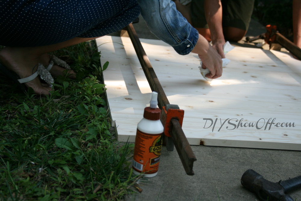 clamping wood planks