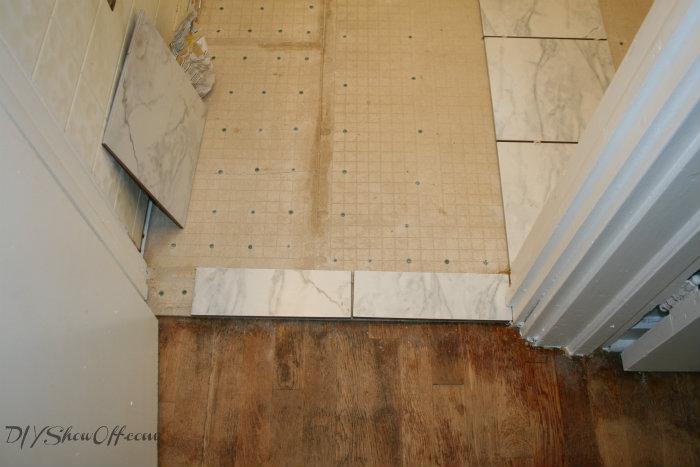 How To Tile A Bathroom FloorDIY Show Off ™