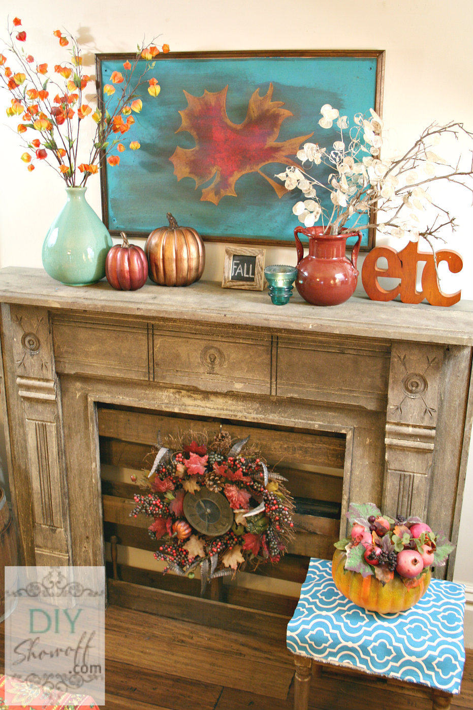 red turquoise fall mantle