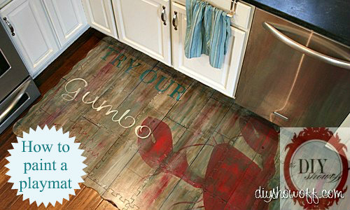 How to, DIY, painted foam play mat