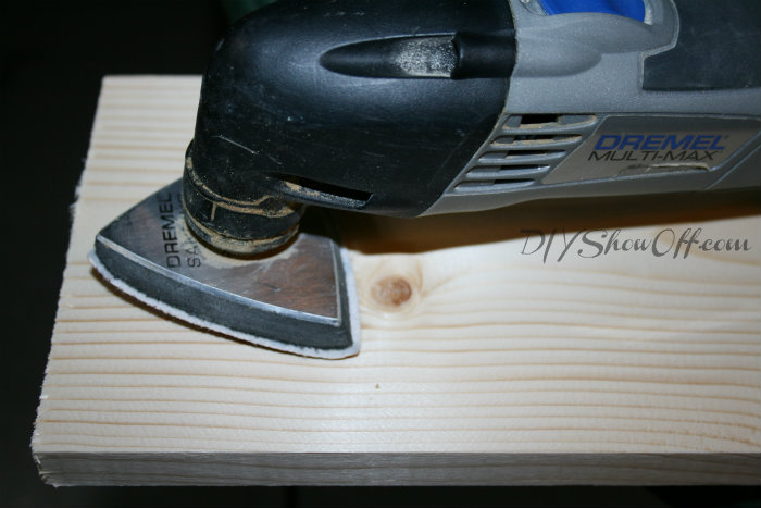 sanding plank table top