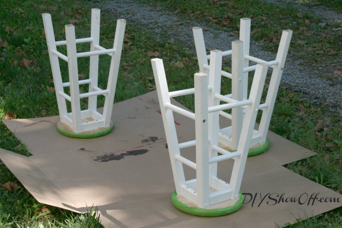 spray painting bar stools