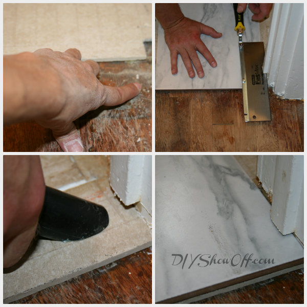 tiling at door frame