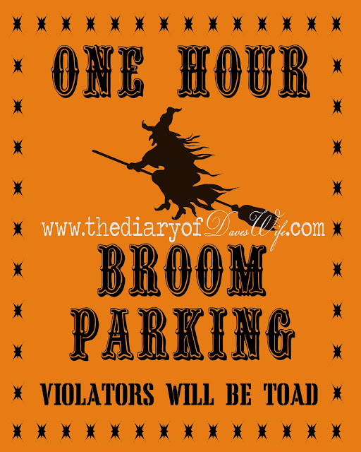 broom parking free printable