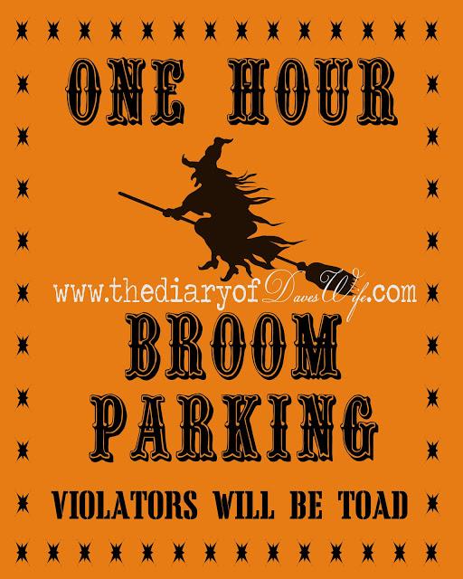 broom parking free printable