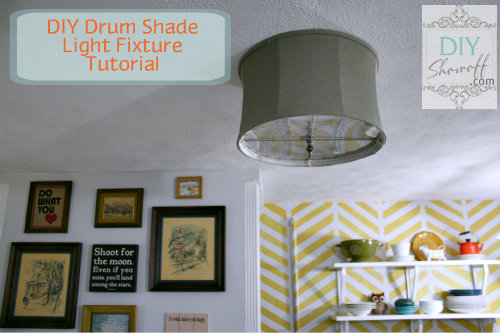 DIY Drum Shade Ceiling Mount Light Fixture Tutorial