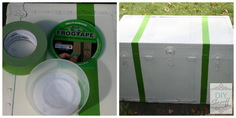 FrogTape steamer trunk
