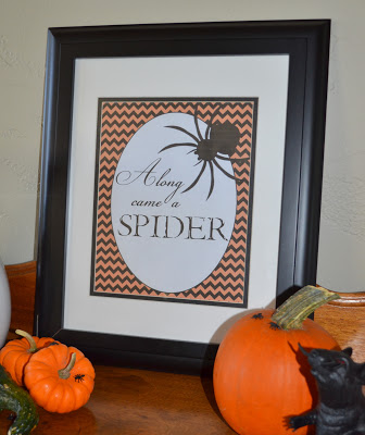 Halloween spider printable