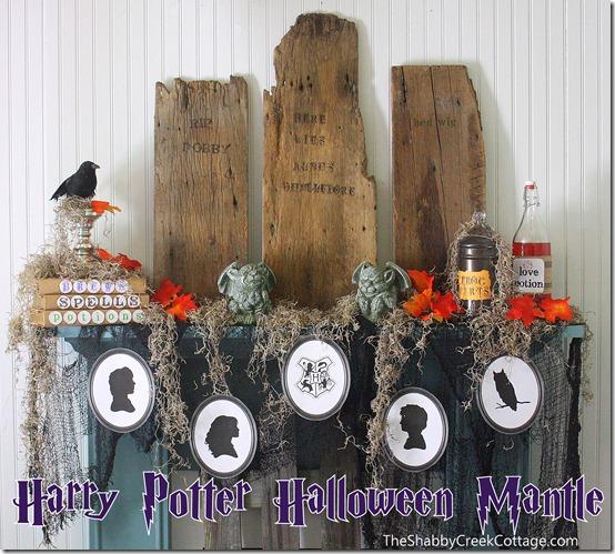 The Shabby Creek Cottage - Harry Potter Halloween mantel