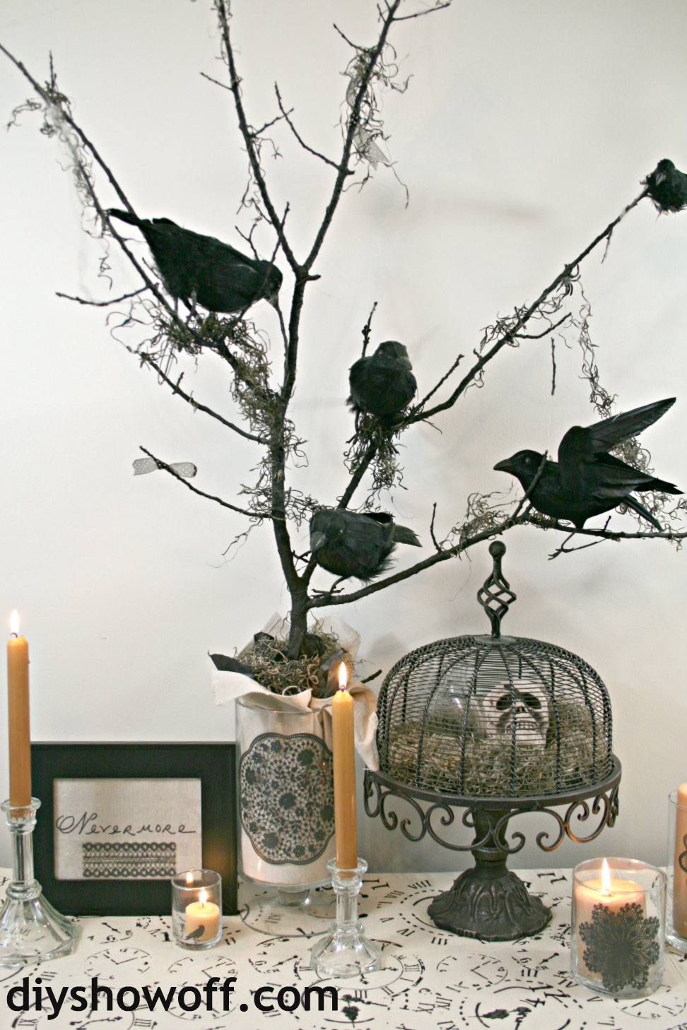 "The Raven ""Nevermore"" Halloween craft decor"