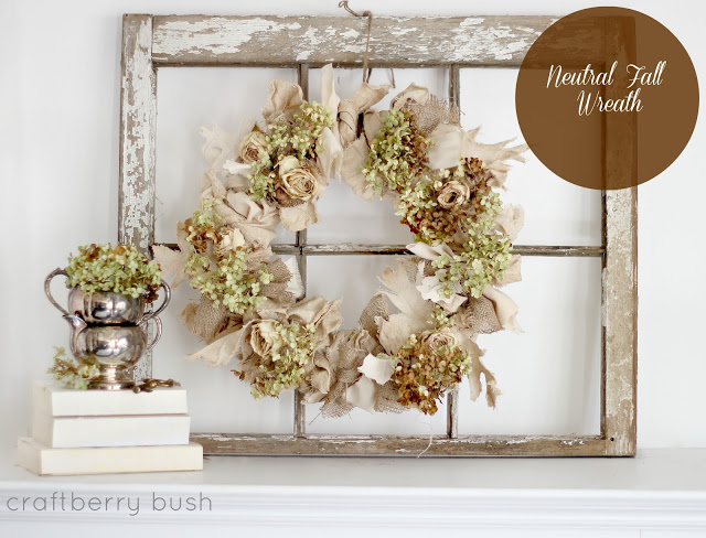 dried fall wreath tutorial