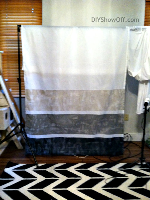 drying painted curtain