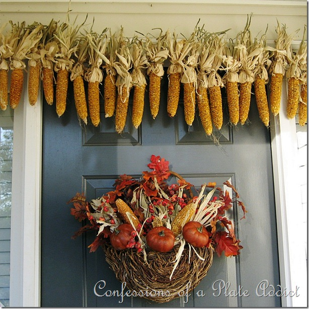 DIY dried corn garland