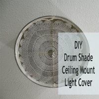 Diy ceiling mount drum shade light fixture tutorialdiy show off diy ceiling mount drum shade light fixture cover mozeypictures Choice Image
