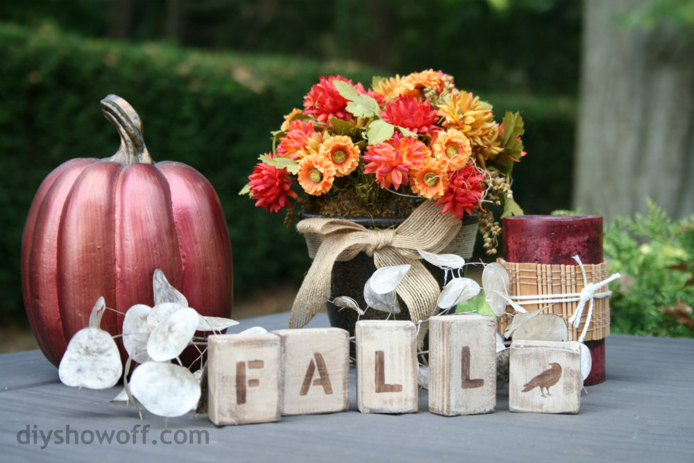 wood scrap fall letters