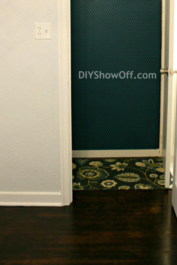 dark walnut stained hardwood floors