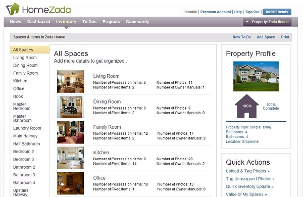 homezada home inventory