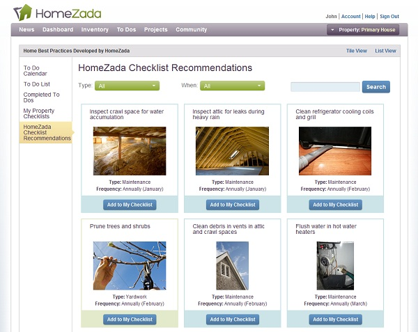 homezada home maintenance
