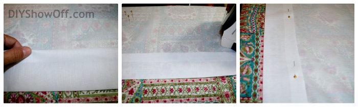 creating and ironing rod pocket hem