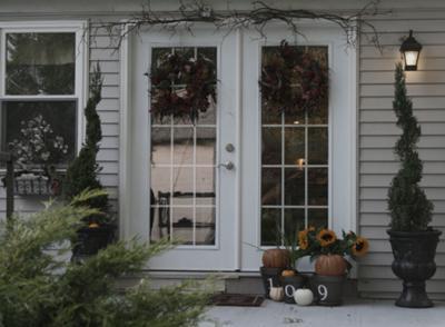 back porch fall decor