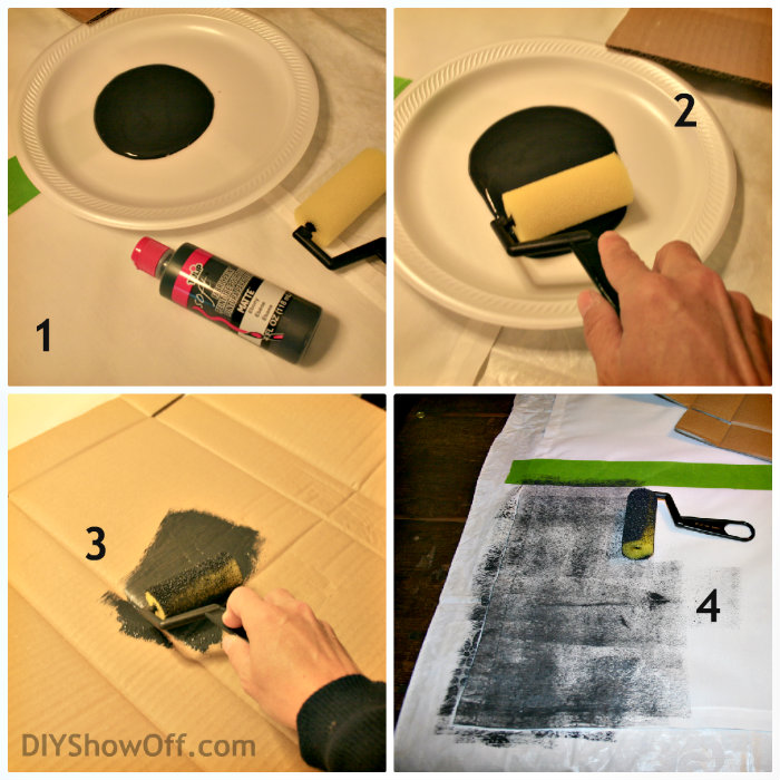 How To Paint Horizontal Striped Curtain Panelsdiy Show Off