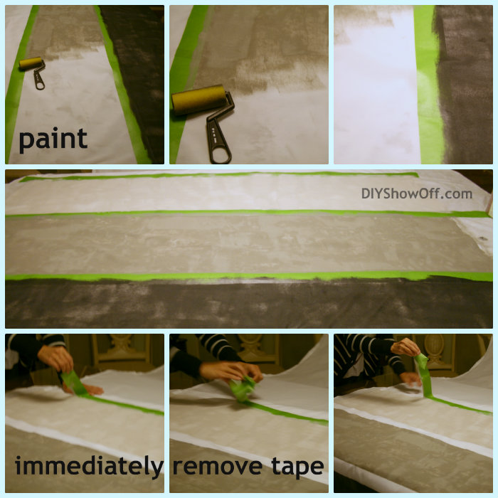 DIY painted striped curtain panels