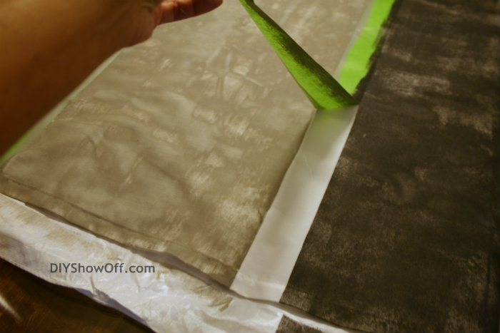 removing FrogTape from painted curtains