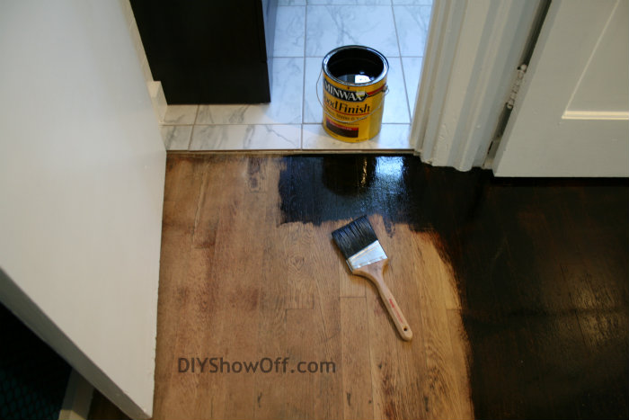 how to restain hardwood floors darker without sanding refinish refinishing apartment progress staining