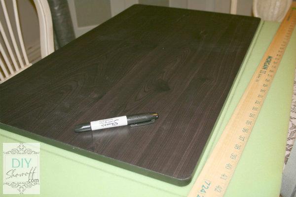 DIY tufted ottoman - marking foam