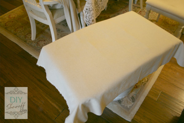 DIY ottoman tutorial - cover with fabric