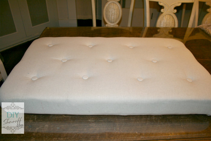 How To Make A Diy Upholstered Tufted Ottomandiy Show Off