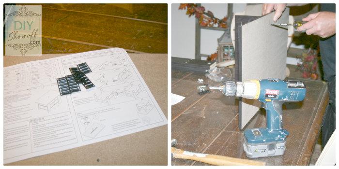 DIY ottoman - assemble coffee table