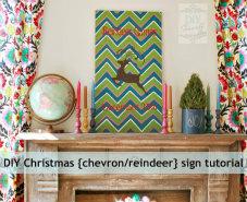 DIY Chevron Christmas Reindeer Games sign thumbnail
