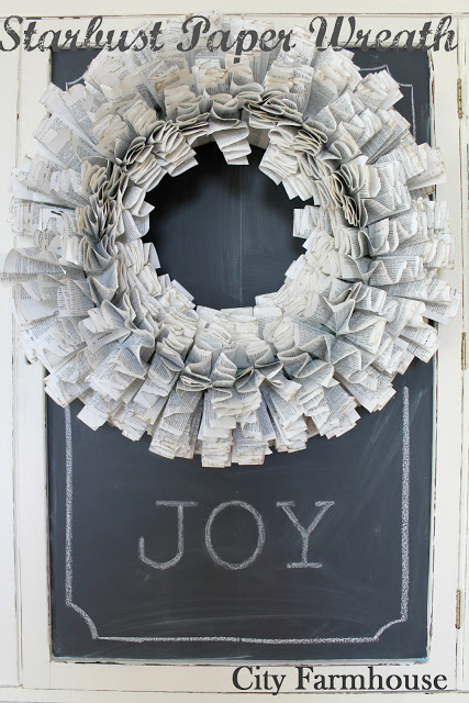 DIY starburst paper wreath - City Farmhouse