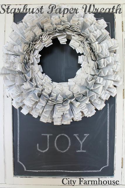 DIY starburst paper wreath - City Farmhouse