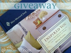 Miss Mustard Seed Inspired You review and giveaway