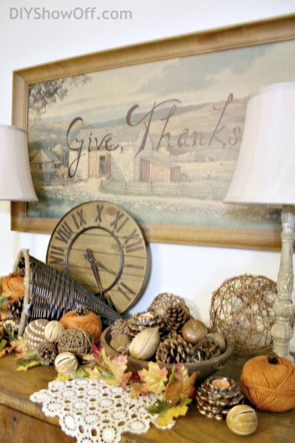 DIY Thanksgiving wall art