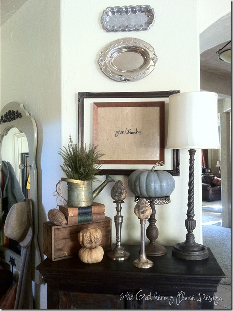 The Gathering Place Thanksgiving vignette 2011
