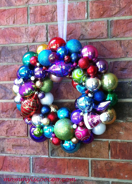 Christmas ornament wreath giveaway at Mommy is Coocoo