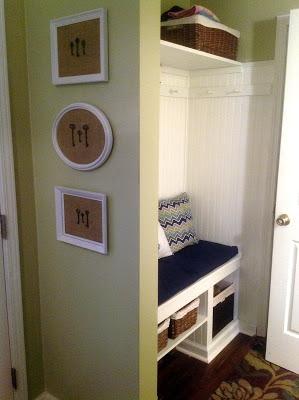 DIY closet mudroom @Handmade Modern