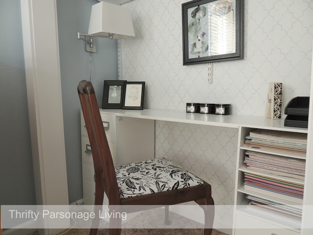 closet office reveal @Thrifty Parsonage Living
