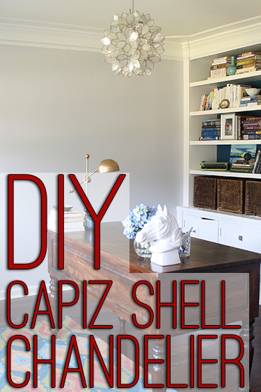 DIY capiz shell chandelier