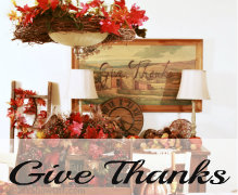 thrifty give thanks Thanksgiving wall art