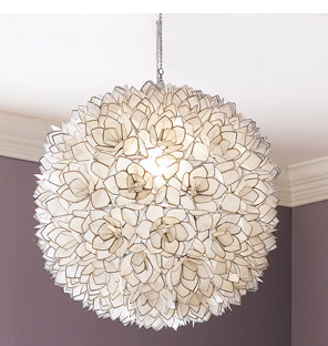 horchow capiz shell light fixture