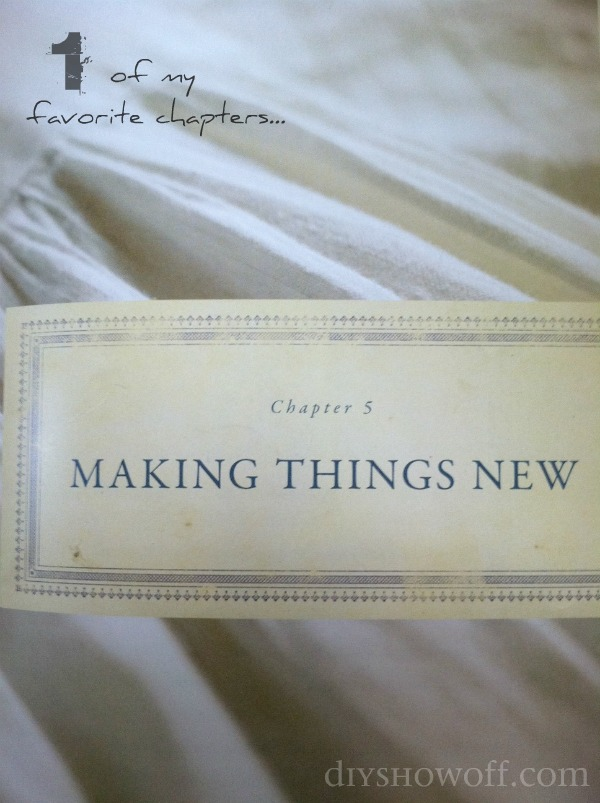 making things new