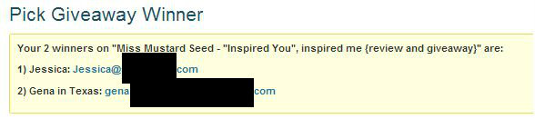 Inspired You winners